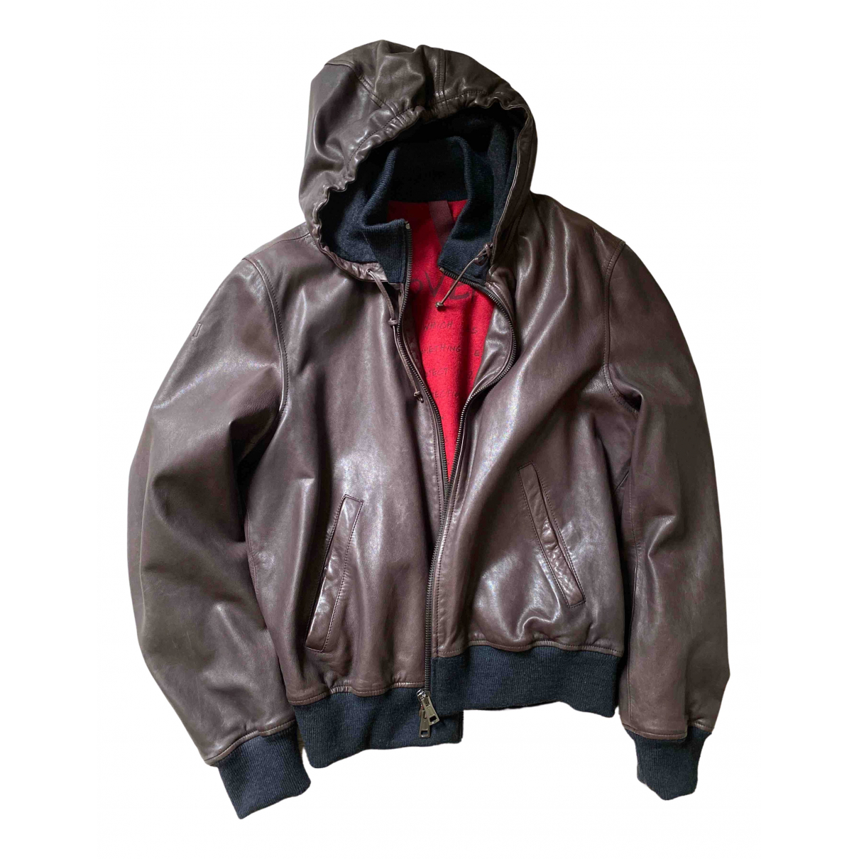 Orciani \N Brown Leather jacket  for Men 54 IT
