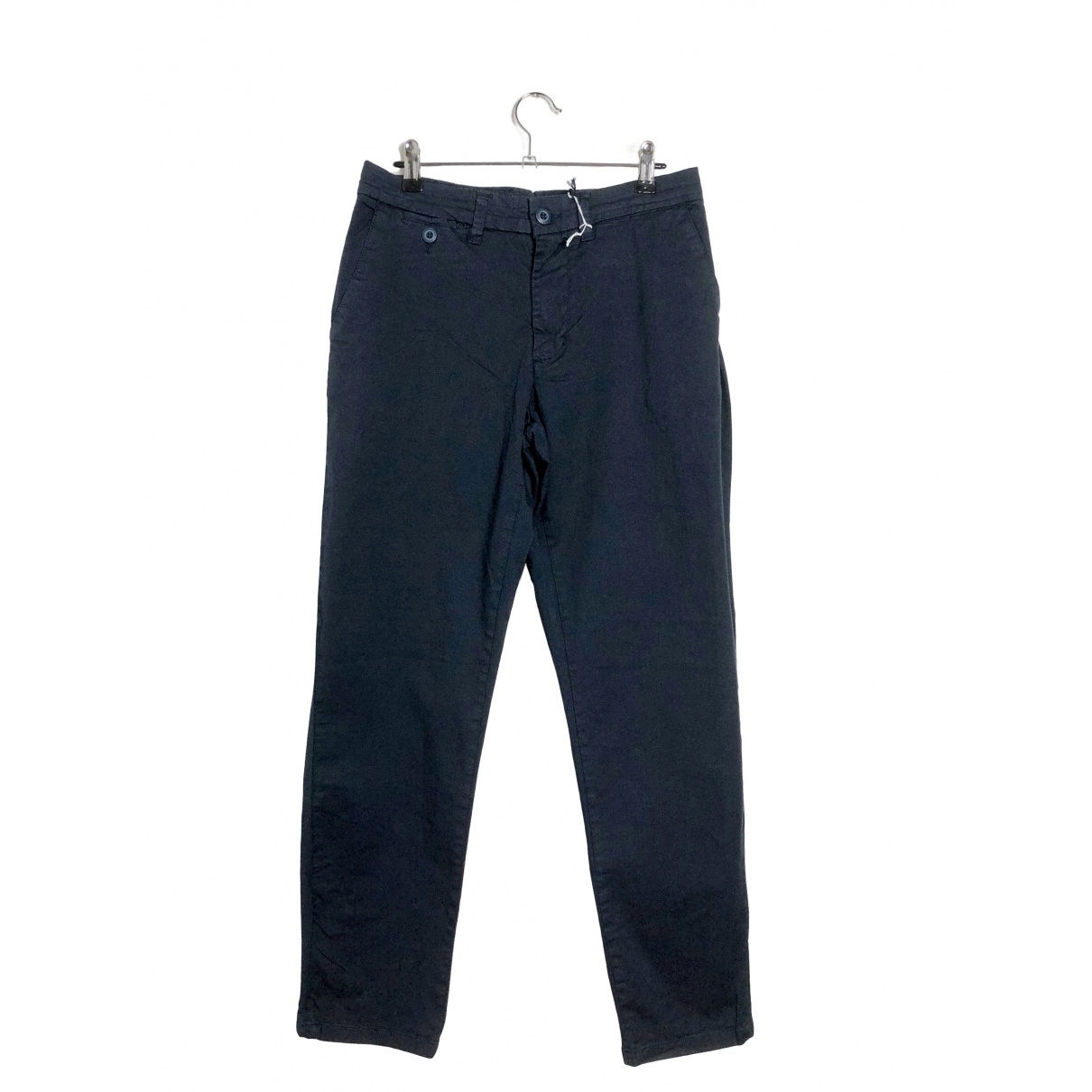 Trussardi \N Blue Cotton Trousers for Men 50 IT