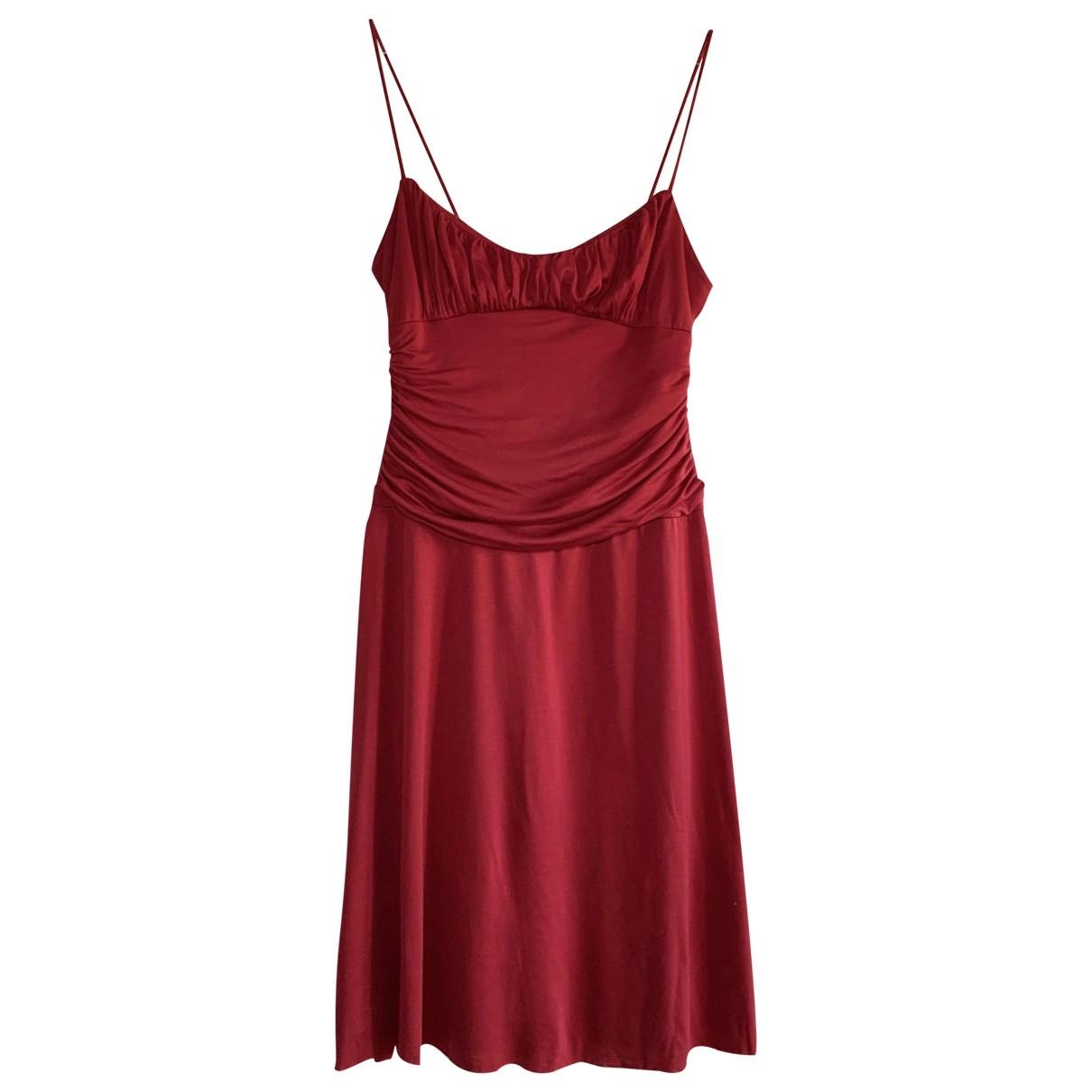 Velvet \N Kleid in  Bordeauxrot Synthetik