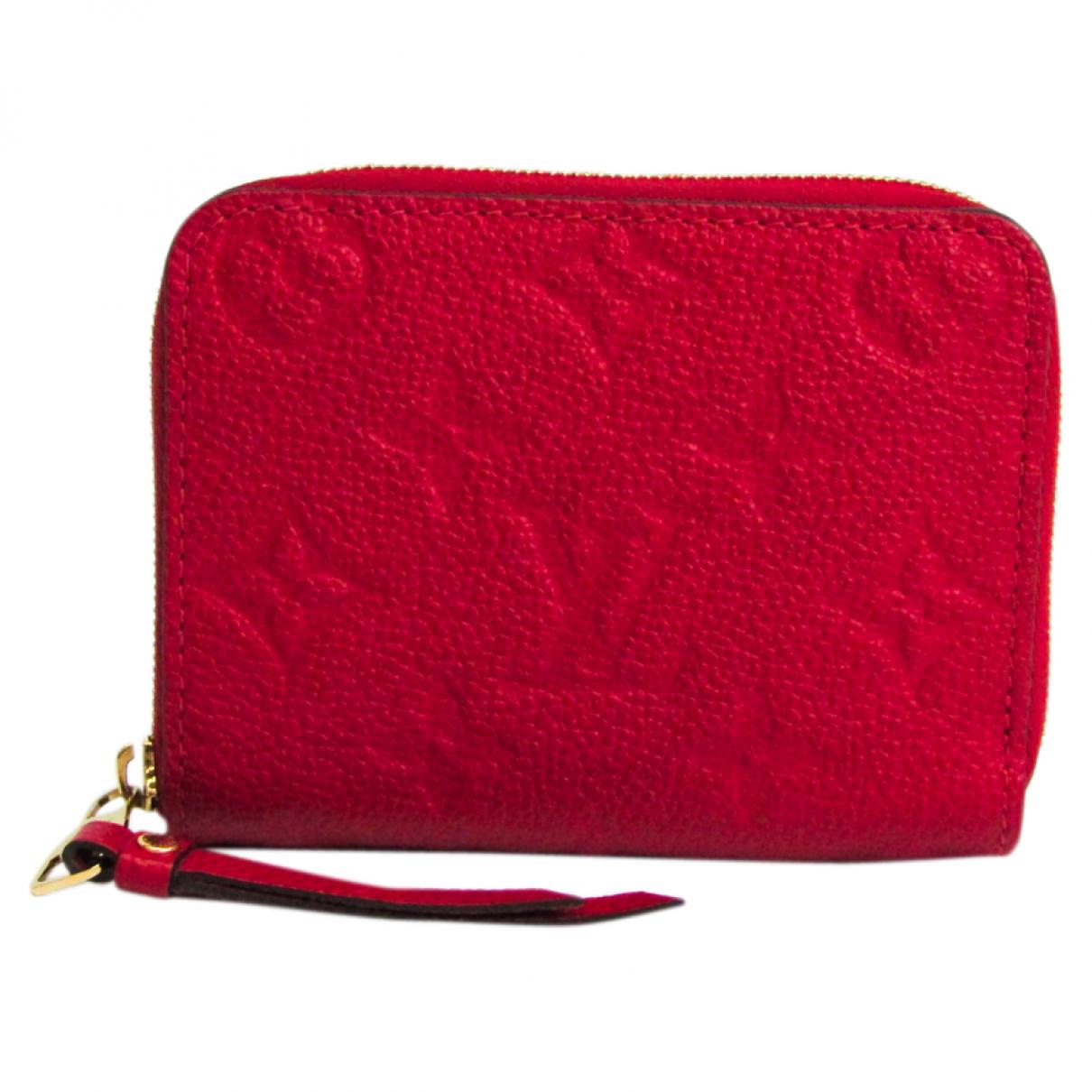 Louis Vuitton \N Portemonnaie in  Rosa Leinen