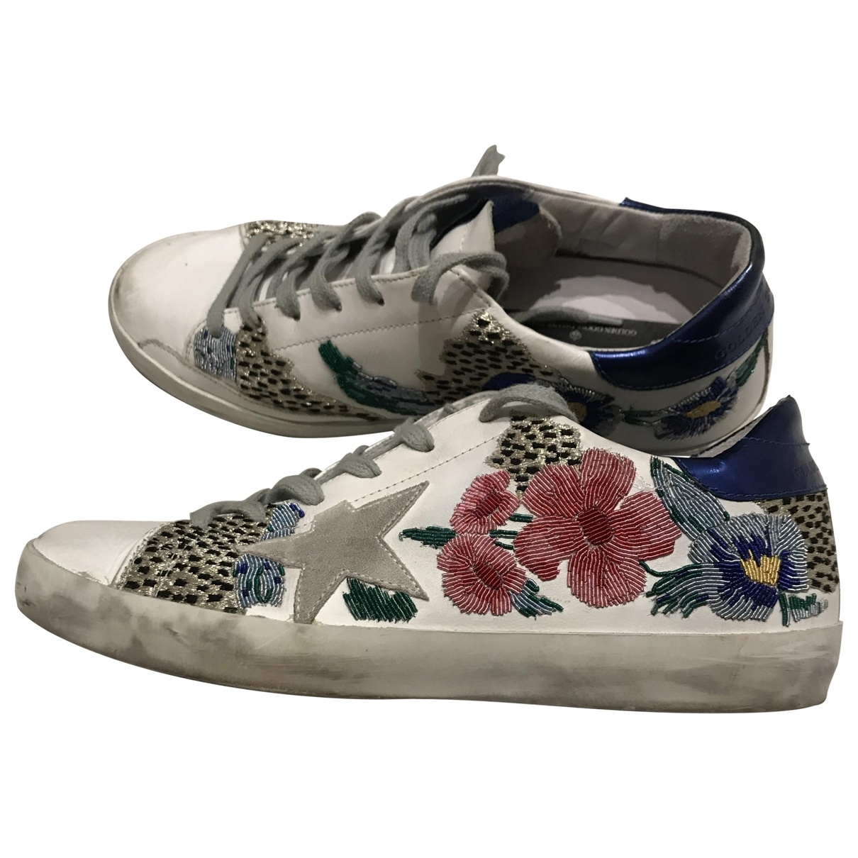 Golden Goose Superstar White Leather Trainers for Women 38 EU