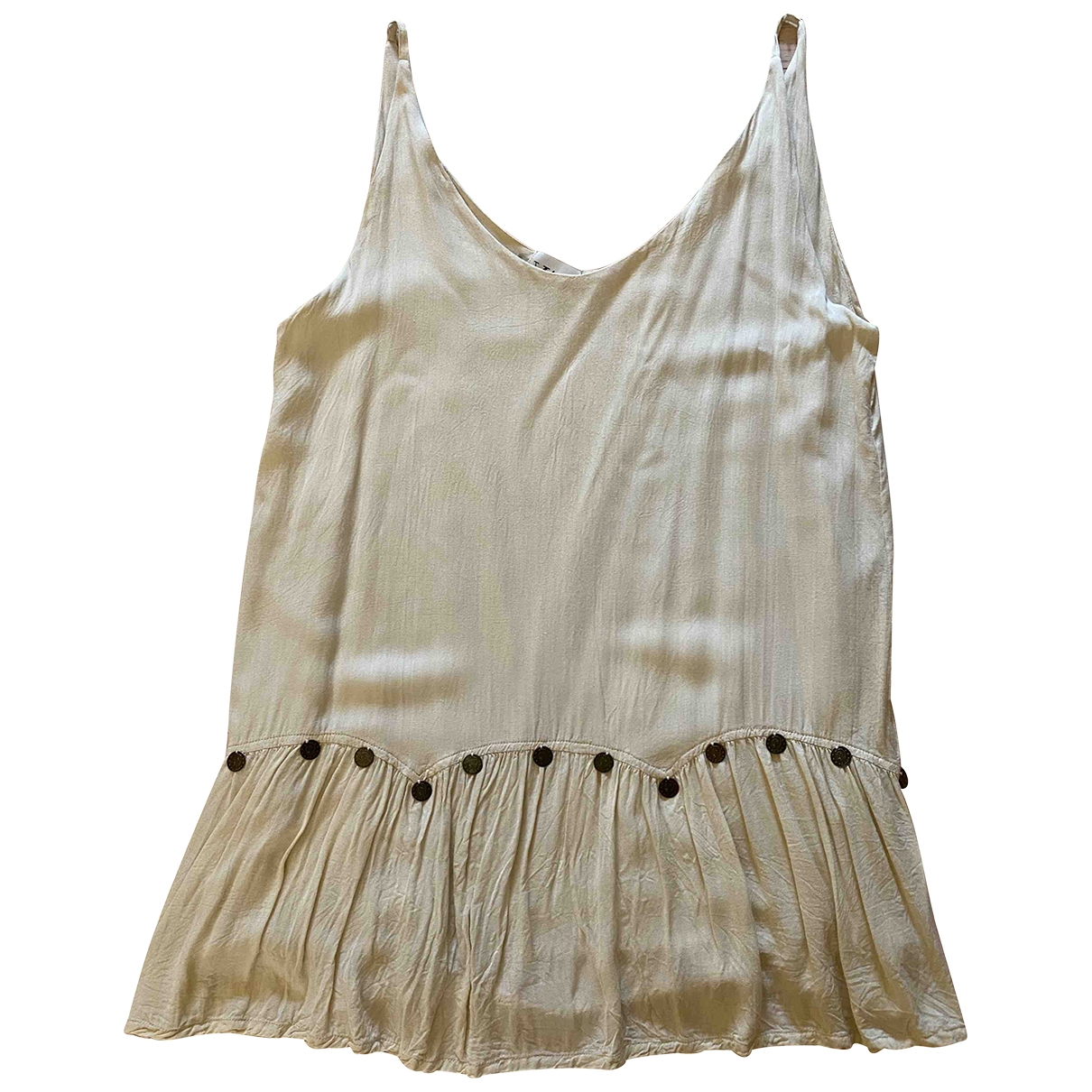 Non Signé / Unsigned \N Beige Cotton dress for Women S International