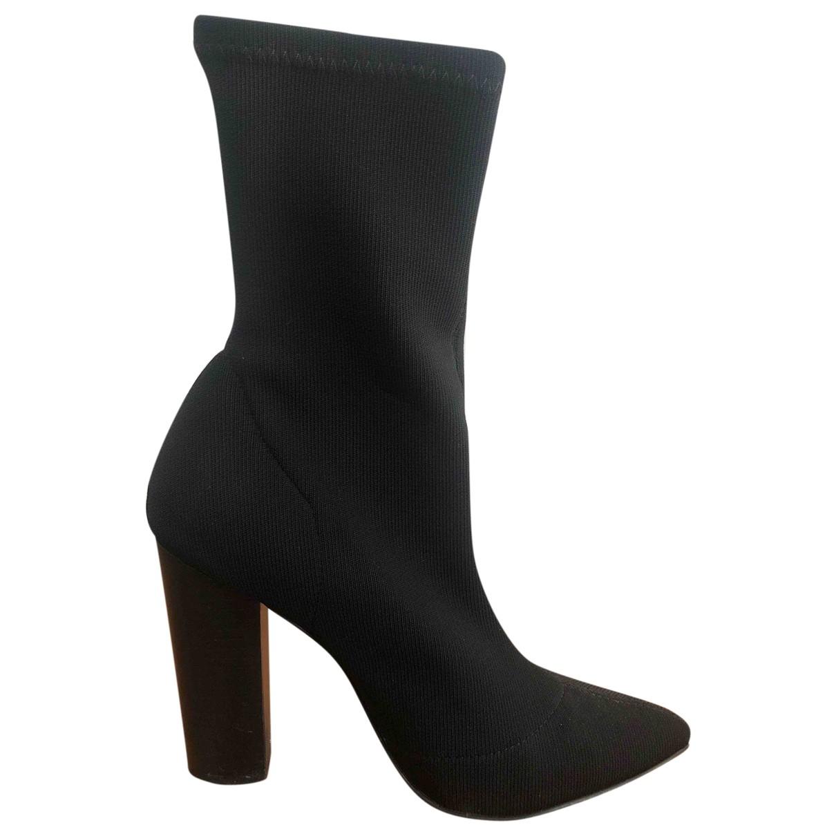 Steve Madden - Boots   pour femme en toile - noir