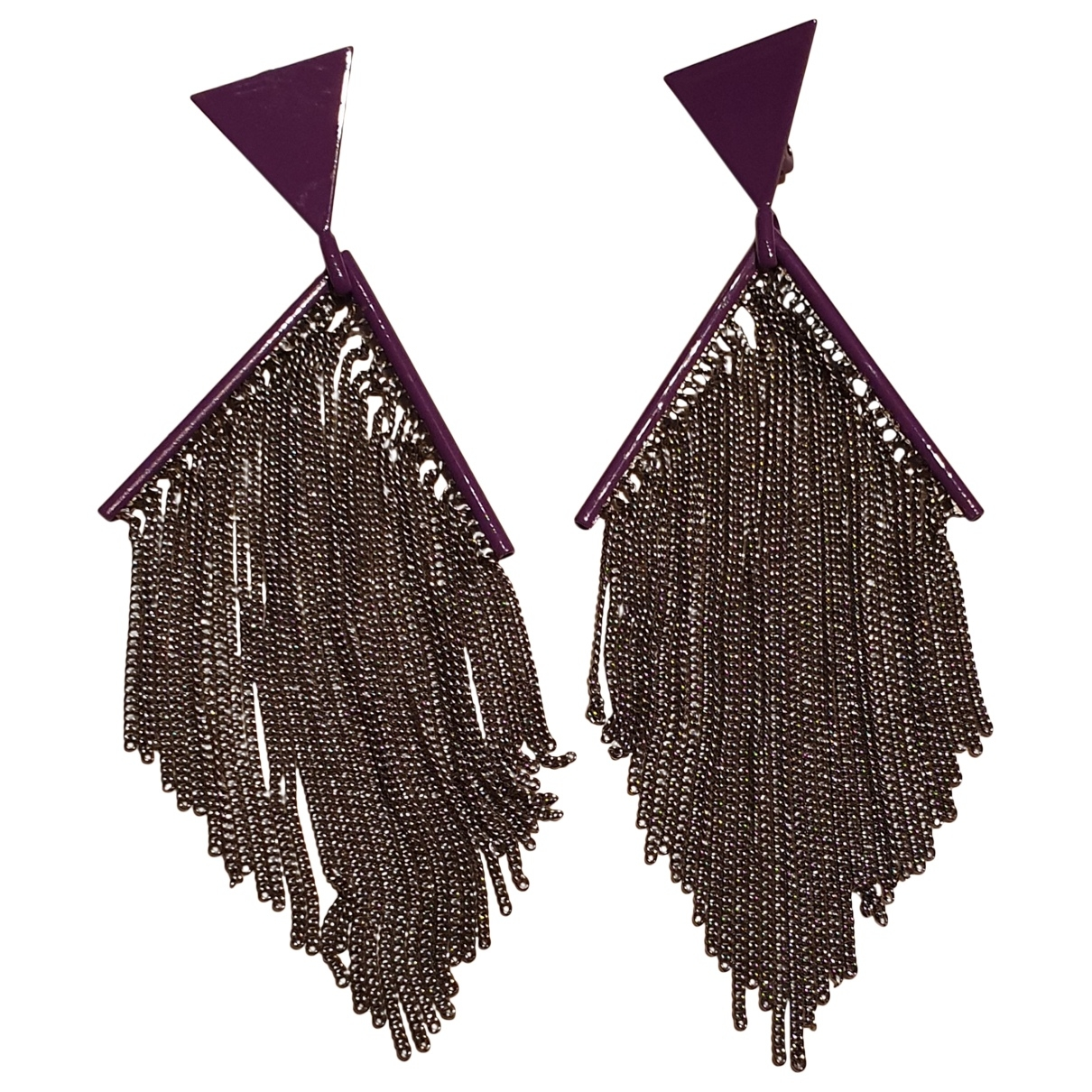 Missoni \N Purple Steel Earrings for Women \N