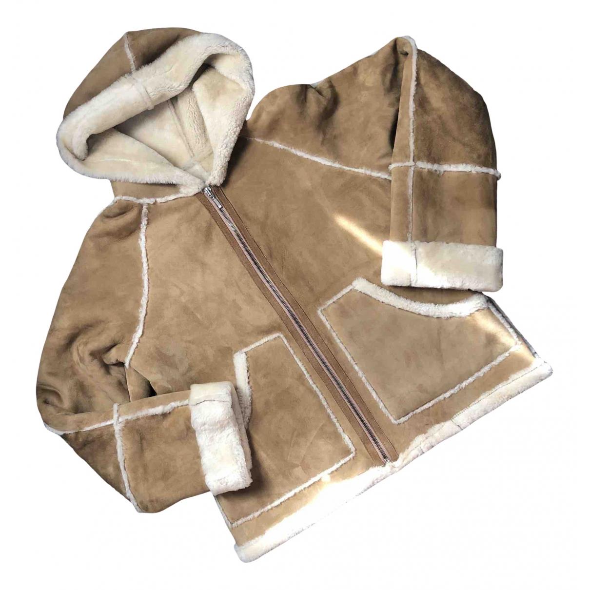 Hobbs - Veste   pour femme en fourrure - beige