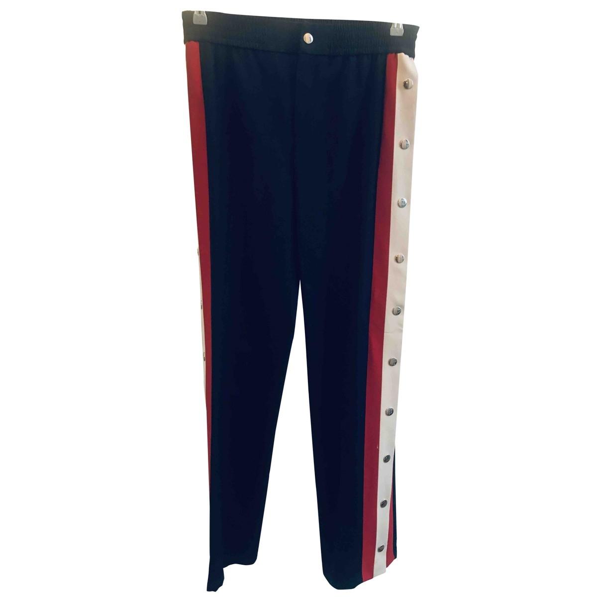 Gucci \N Blue Wool Trousers for Women 42 IT