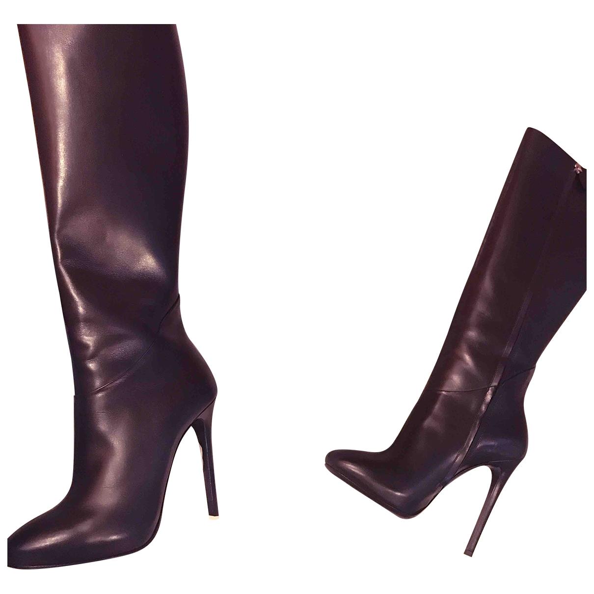 Ermanno Scervino \N Stiefel in  Schwarz Leder