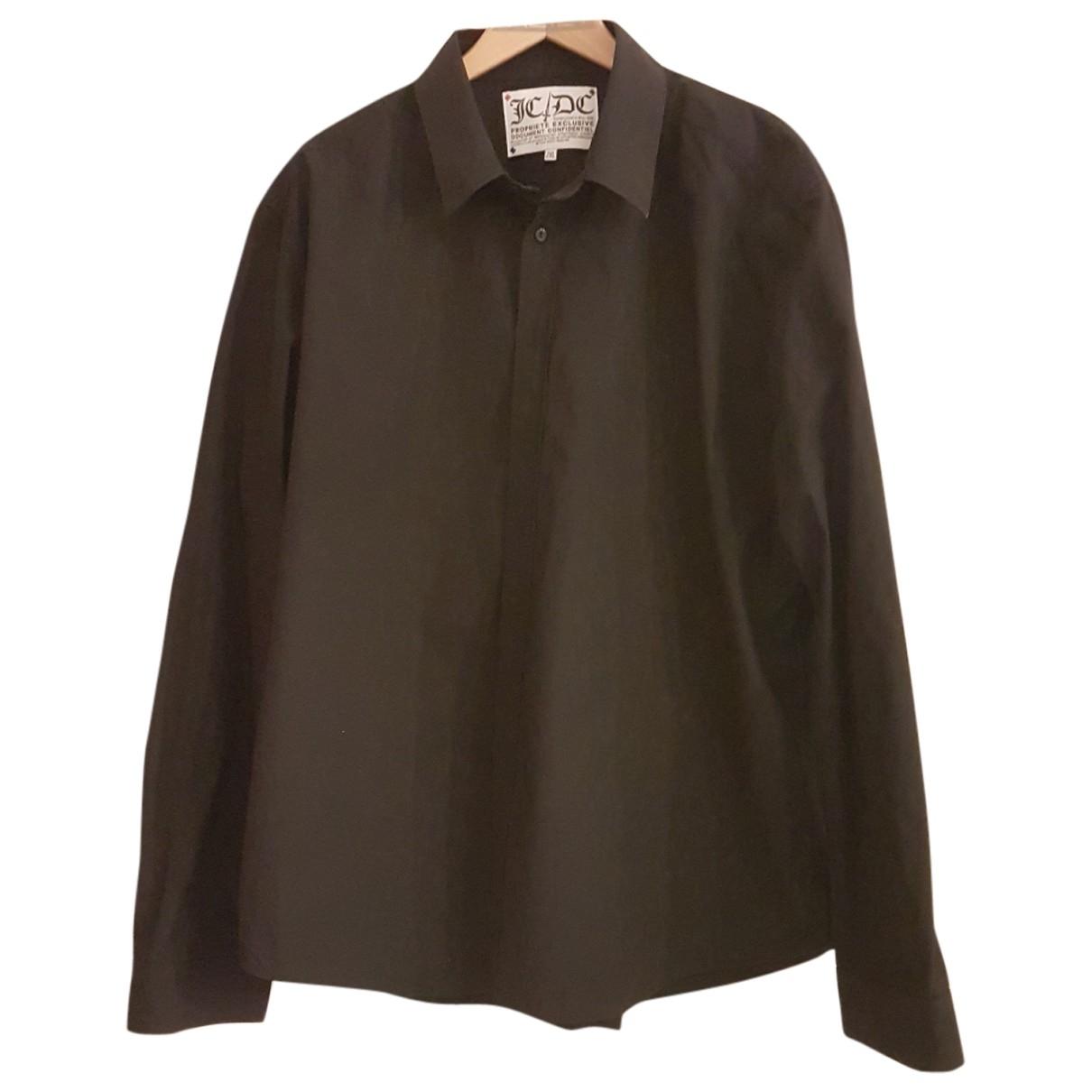 Jc De Castelbajac \N Black Cotton Shirts for Men XXL International