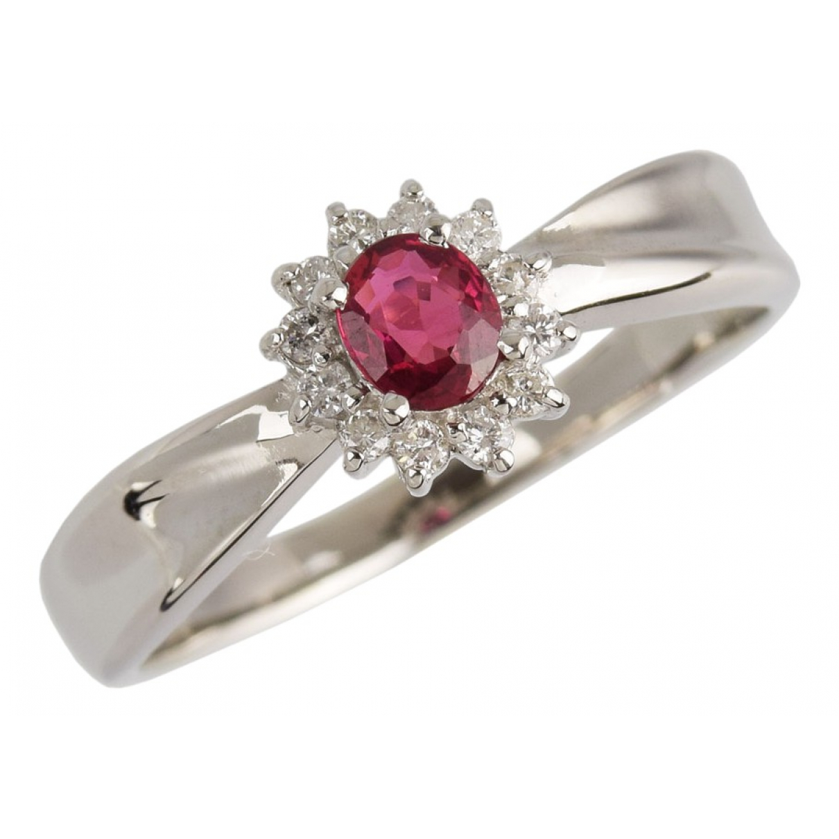 Non Signé / Unsigned \N Pink Platinum ring for Women 55 EU