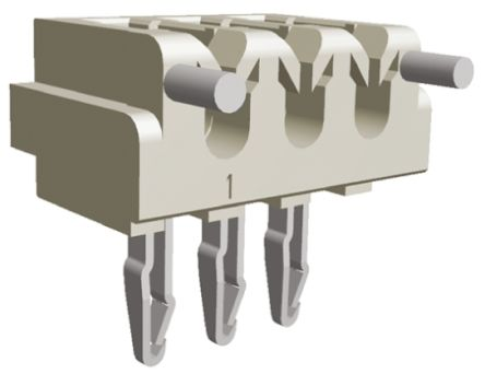 TE Connectivity , CT AMP-IN, 3 Way, 1 Row, Right Angle PCB Header (5)