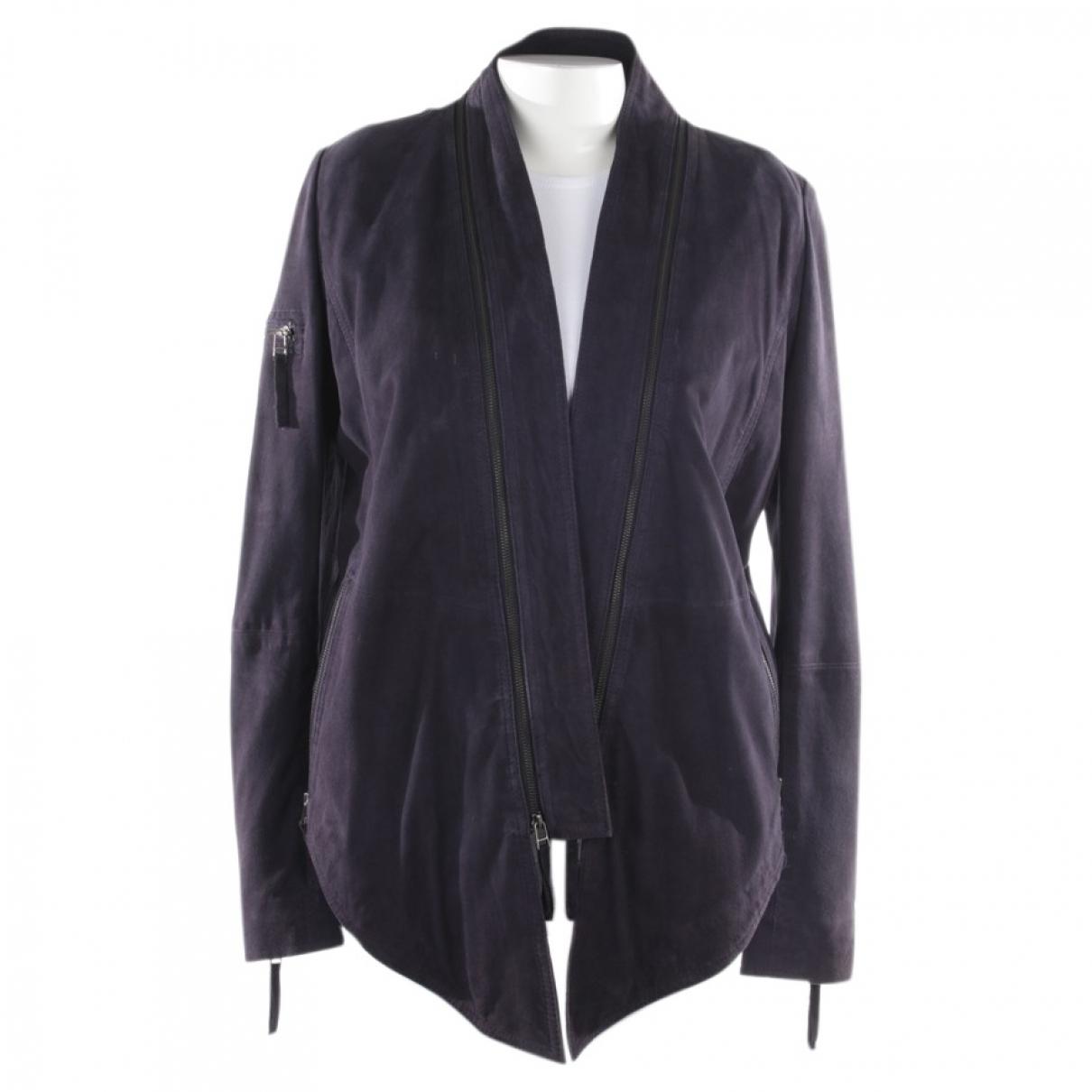 Gestuz - Veste   pour femme en cuir - violet