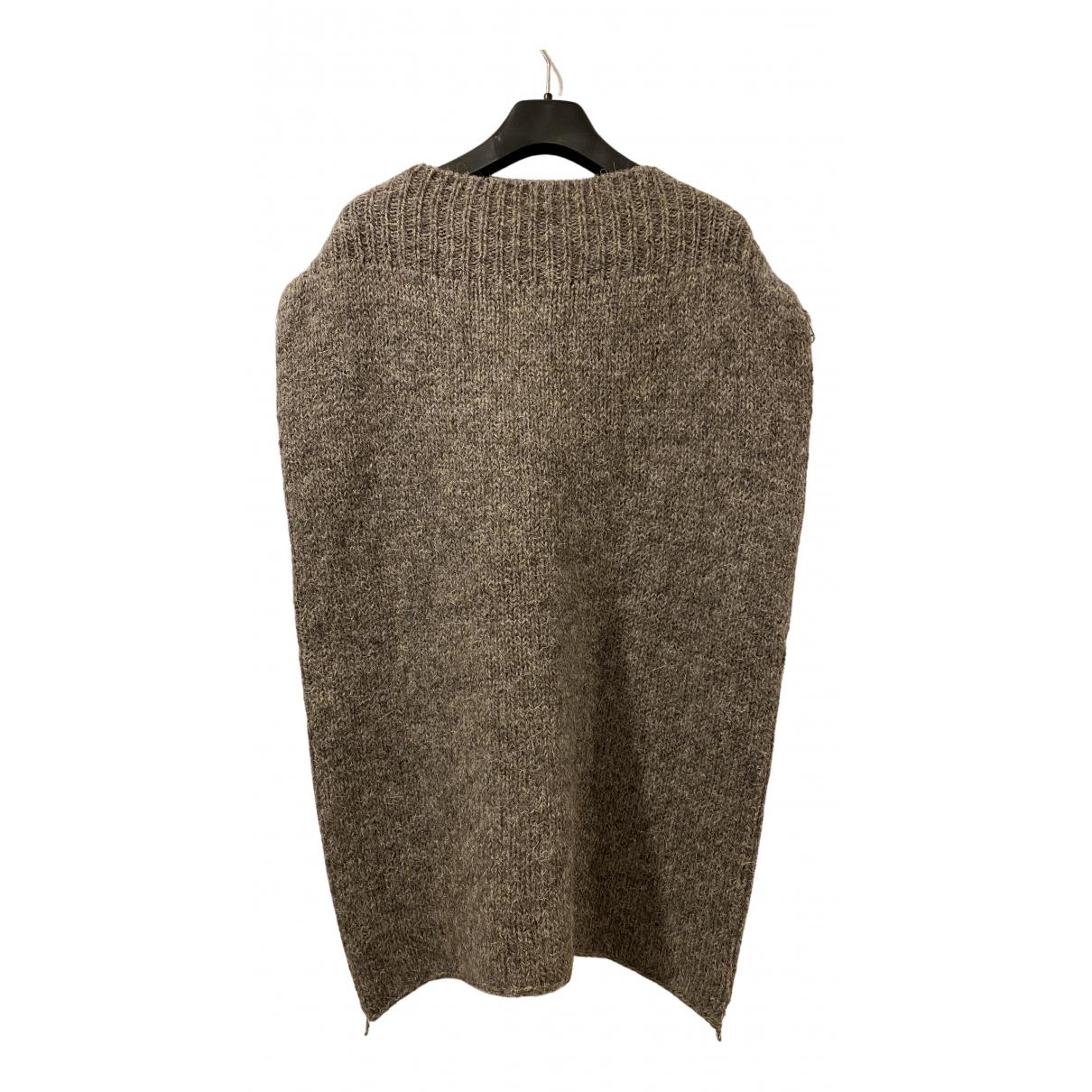 Raf Simons \N Pullover.Westen.Sweatshirts  in  Braun Wolle