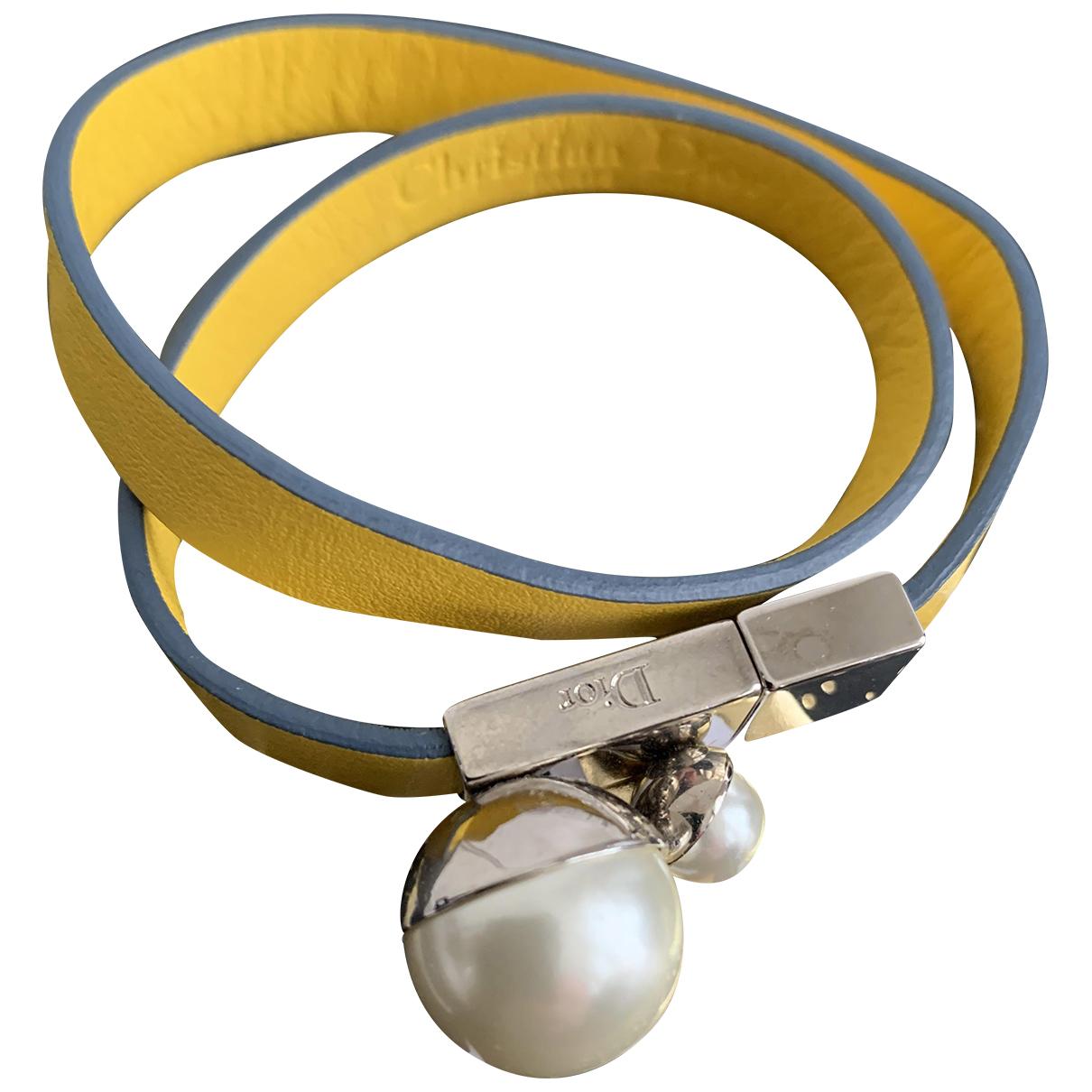 Dior Tribal Armband in  Gelb Leder