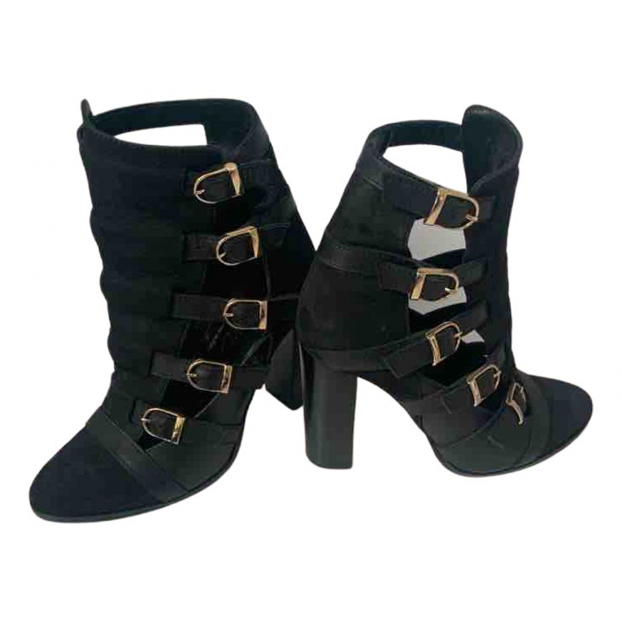 Inga N Black Leather Ankle boots for Women 36 EU