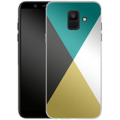 Samsung Galaxy A6 Silikon Handyhuelle - Four Triangles von caseable Designs