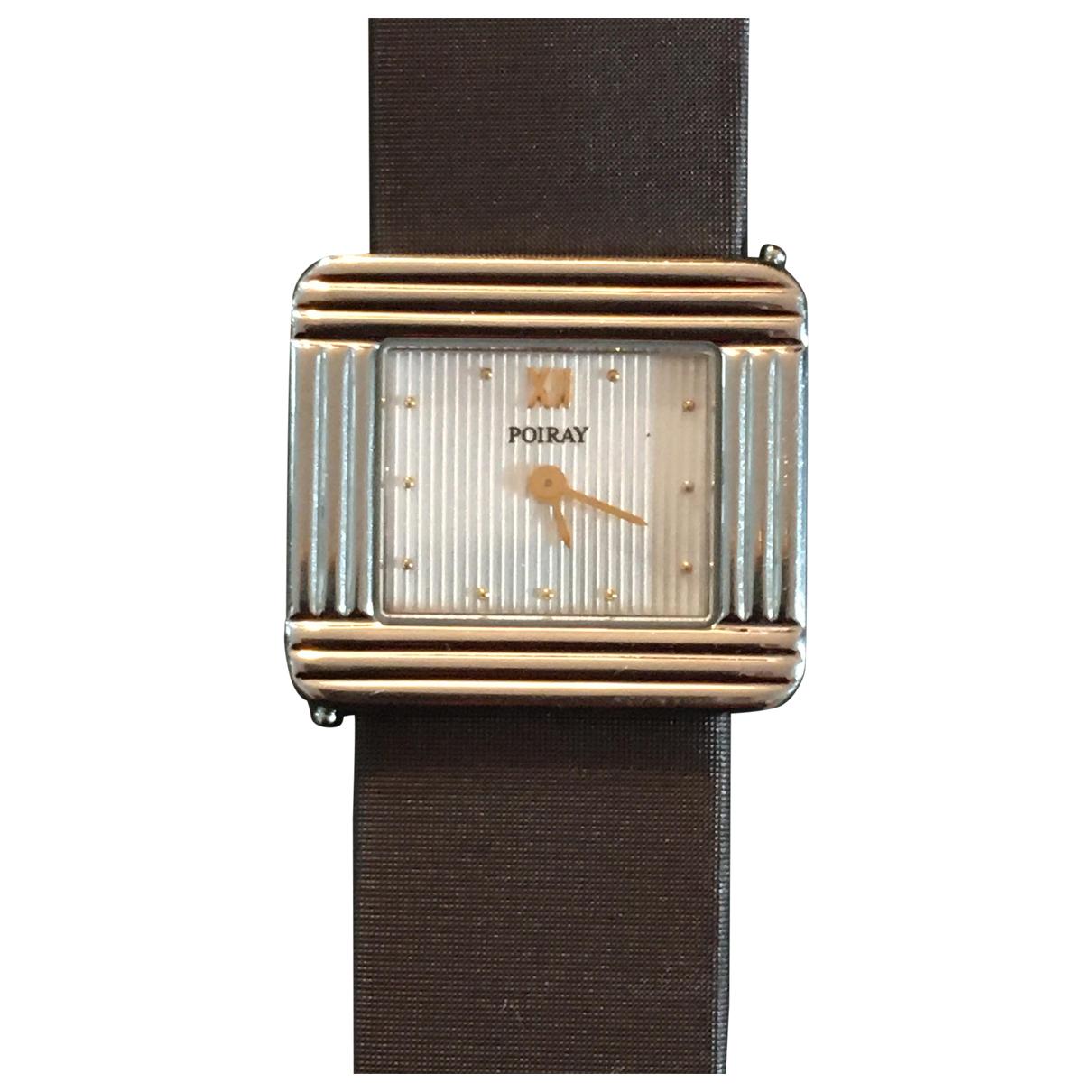 Poiray Ma Première Grand Modèle Brown Steel watch for Women N