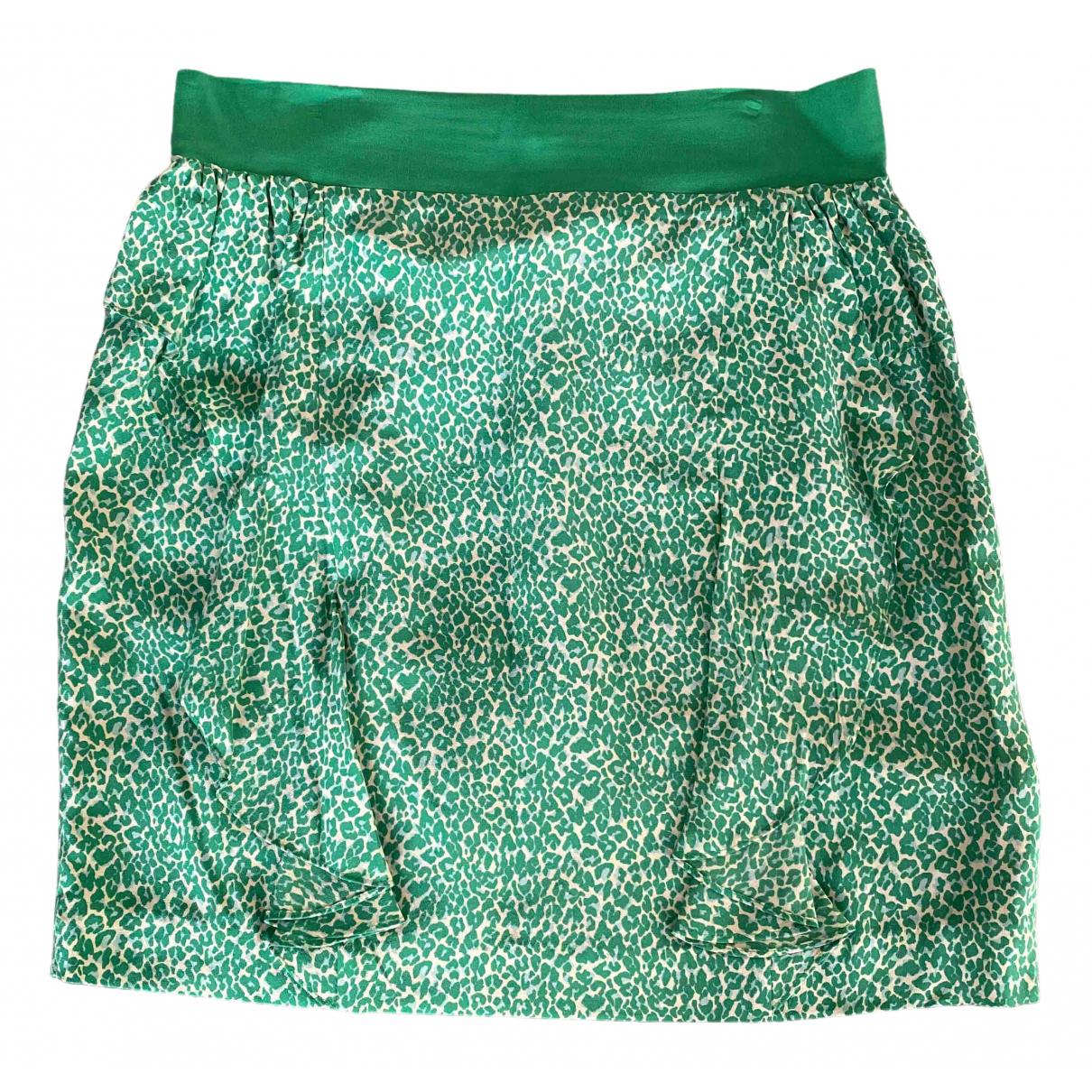 Zapa - Jupe   pour femme en soie - vert