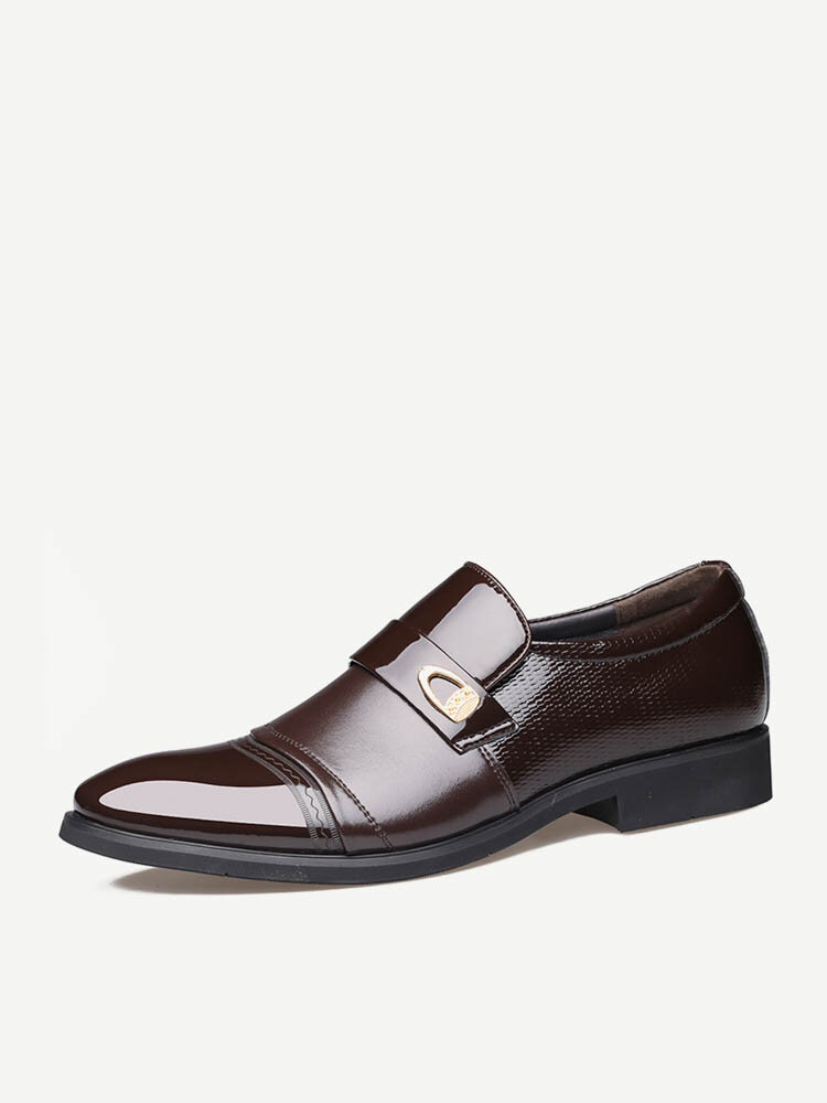 Men Stylish Cap Toe Slip On Business Formal Dress Shoes