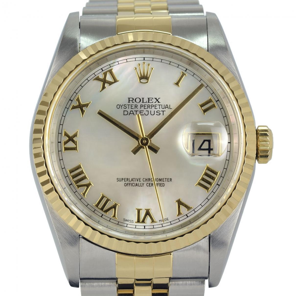 Rolex Datejust 36mm Uhr in  Khaki Gold und Stahl