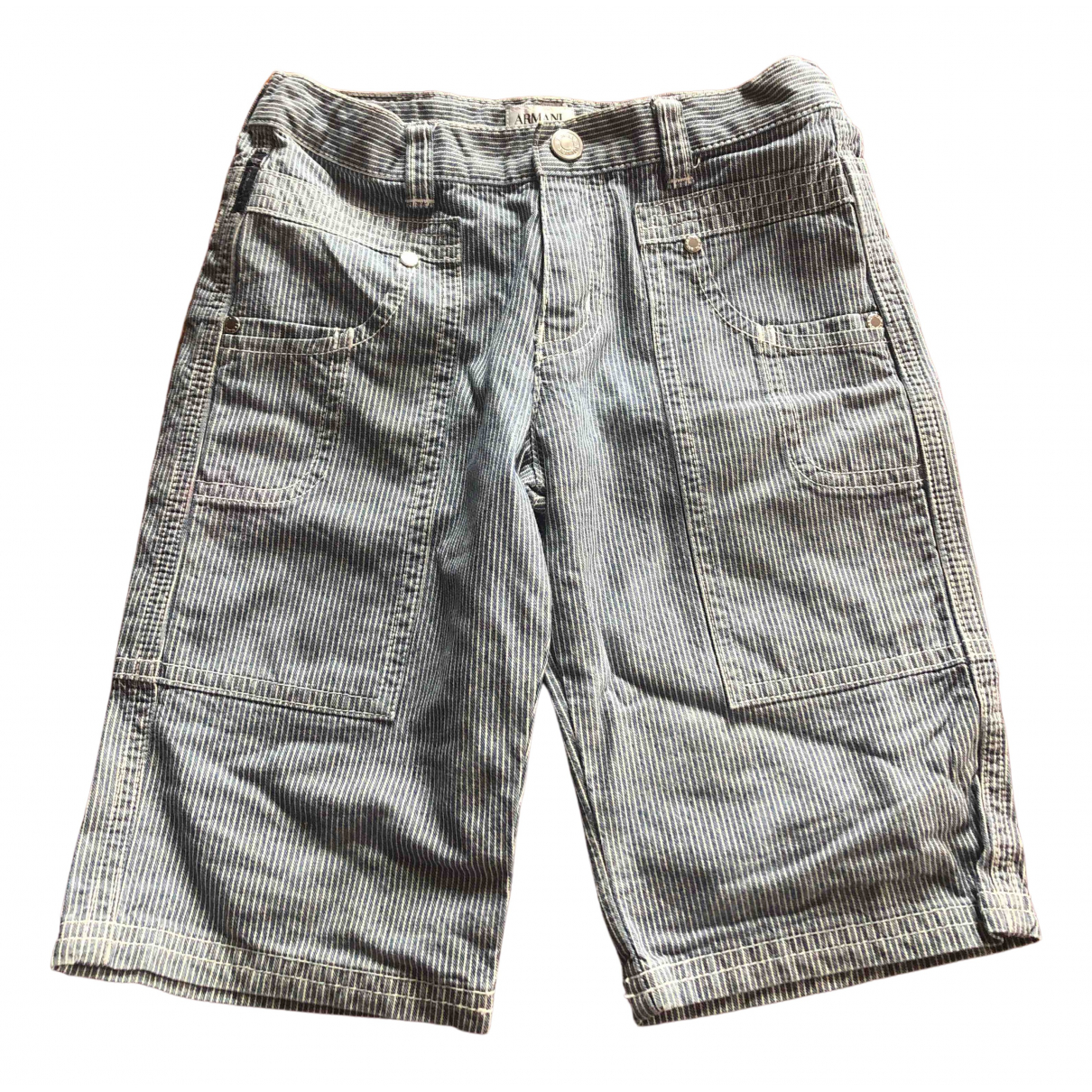 Armani Jeans N Blue Cotton Shorts for Kids 4 years - up to 102cm FR