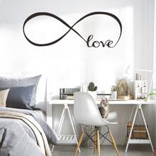 1 pieza pegatina de pared con estampado de letra