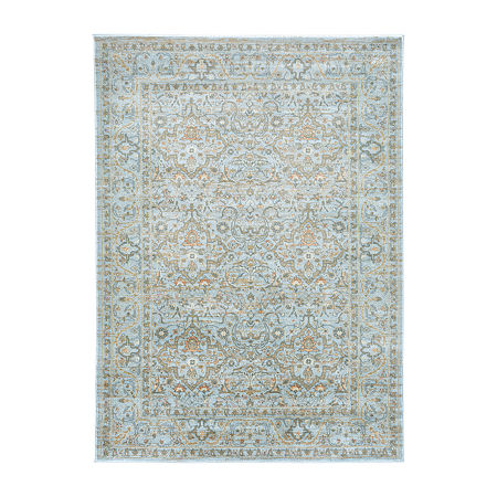 Seriate Rectangular Indoor Rugs, One Size , Blue