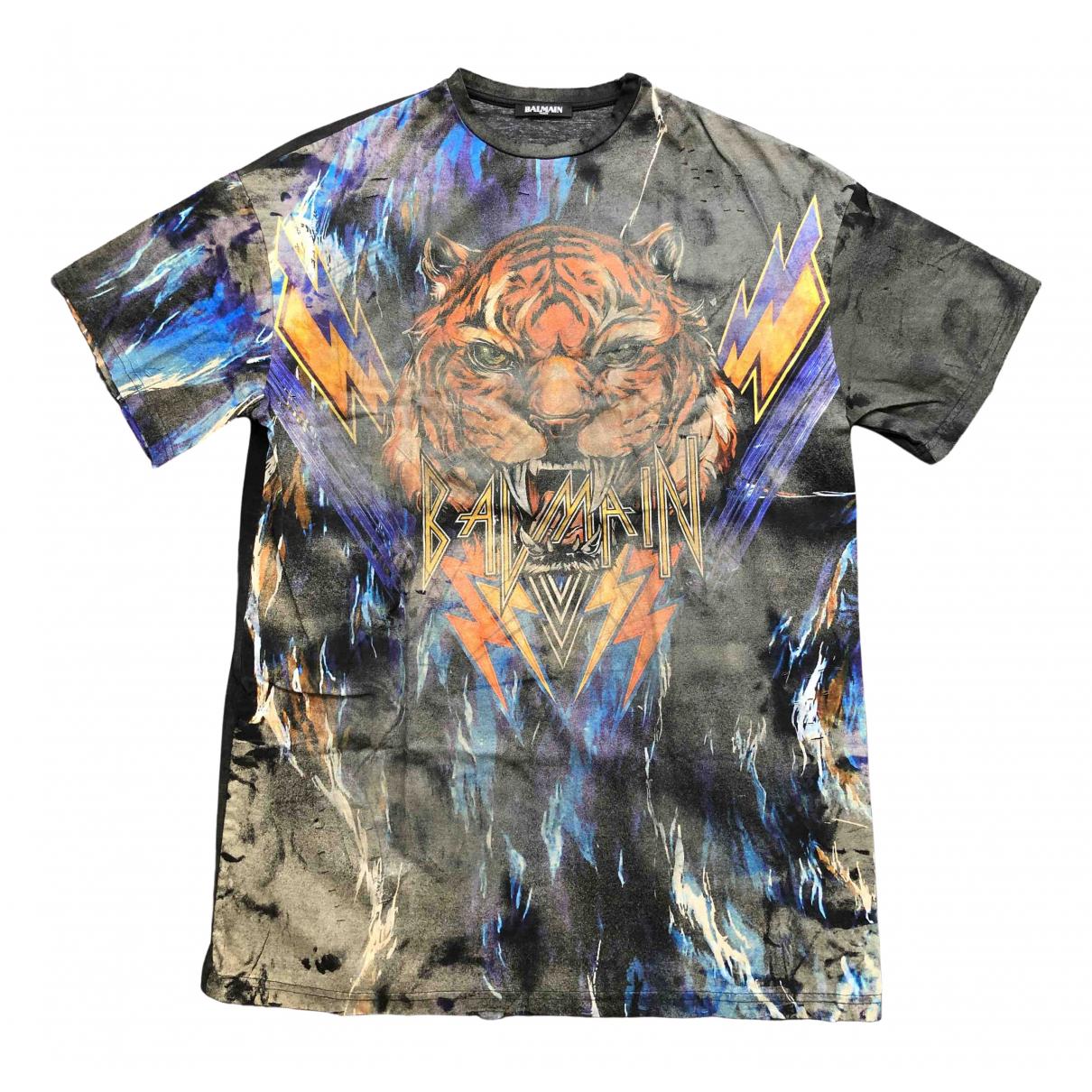 Balmain \N Black Cotton T-shirts for Men S International