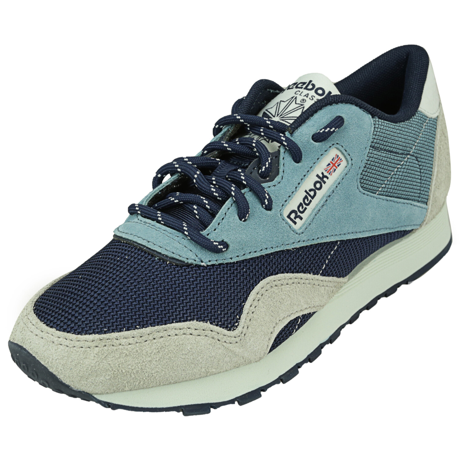 Reebok Men's Cl Nylon Mineral Mist / Navy Sand Polar Ankle-High Sneaker - 4.5M