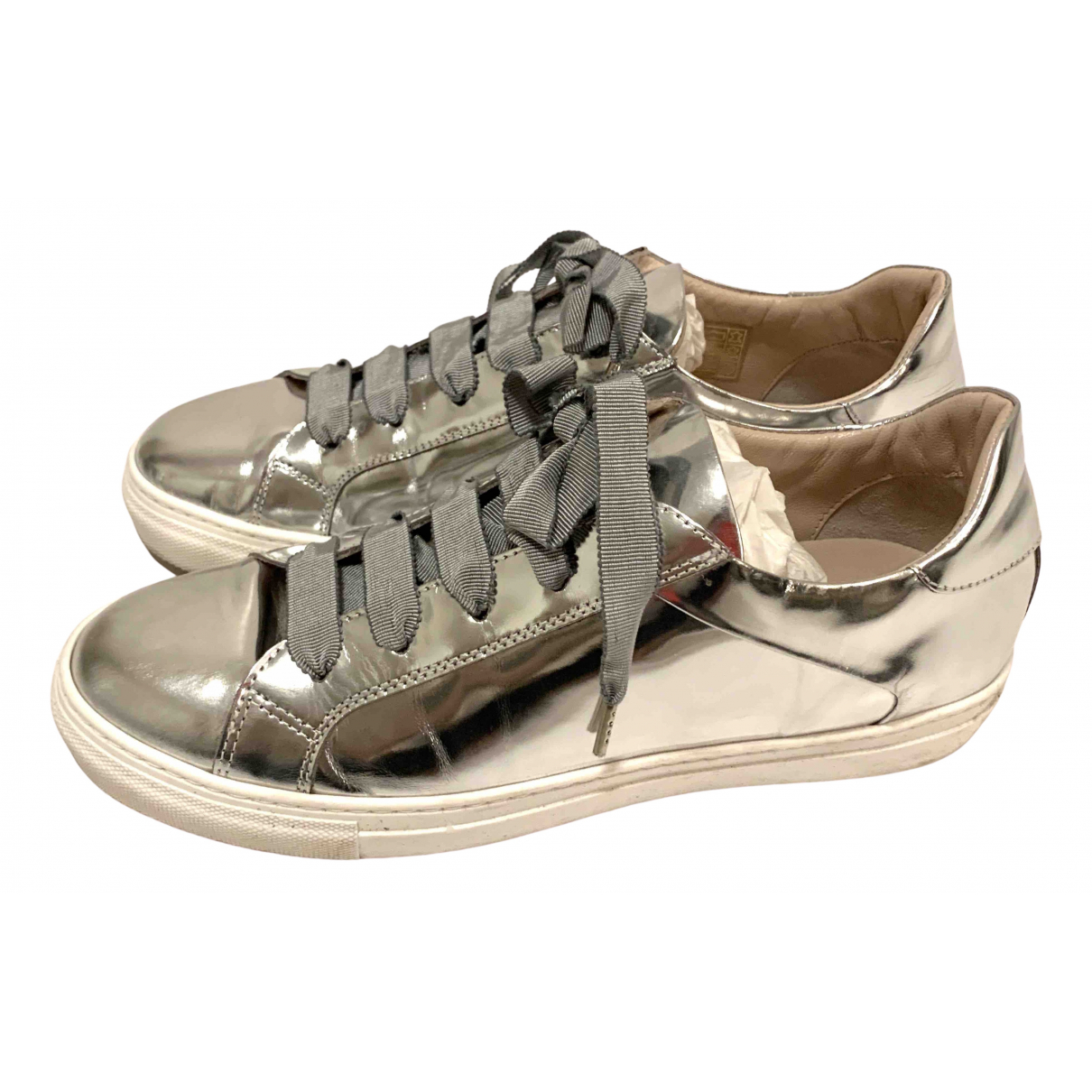 Escada \N Sneakers in  Metallic Leder