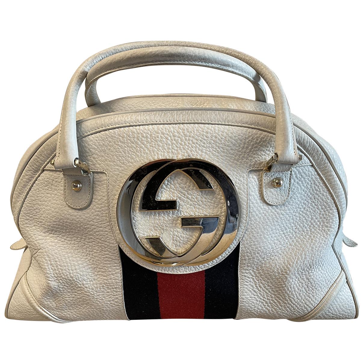 Gucci - Sac de voyage Interlocking pour femme en cuir - blanc