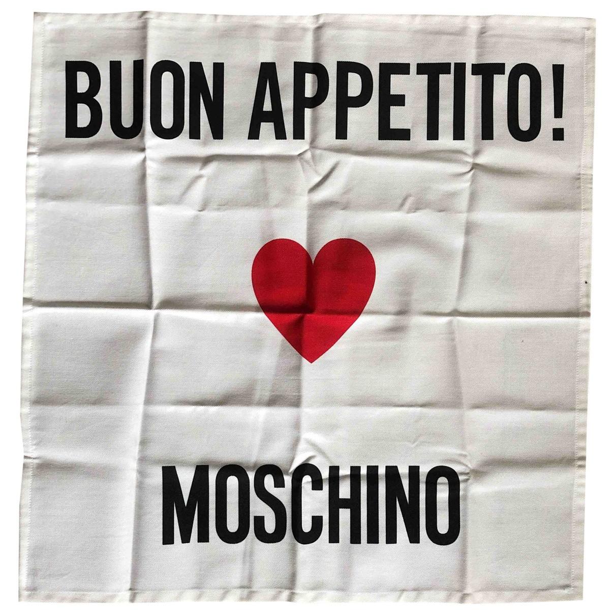 Moschino \N Tischkultur in  Weiss Baumwolle