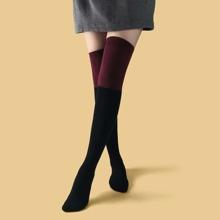 Color Block Knee Socks