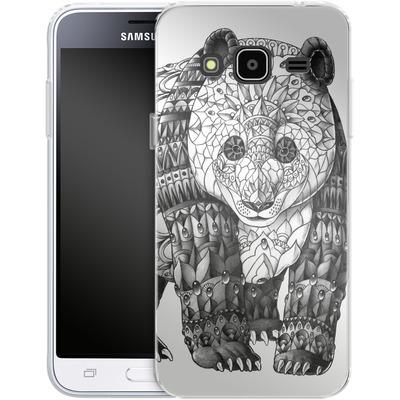 Samsung Galaxy J3 (2016) Silikon Handyhuelle - Panda von BIOWORKZ