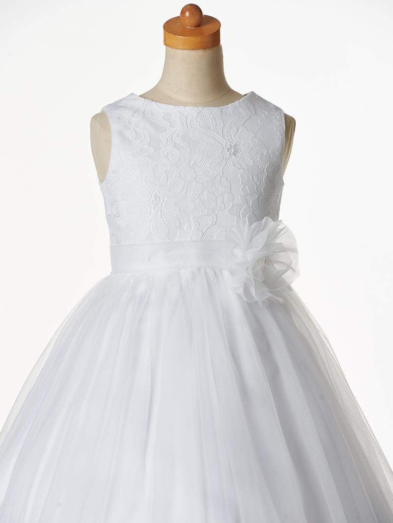 Ericdress 3D Floral Lace Flower Girl Dress