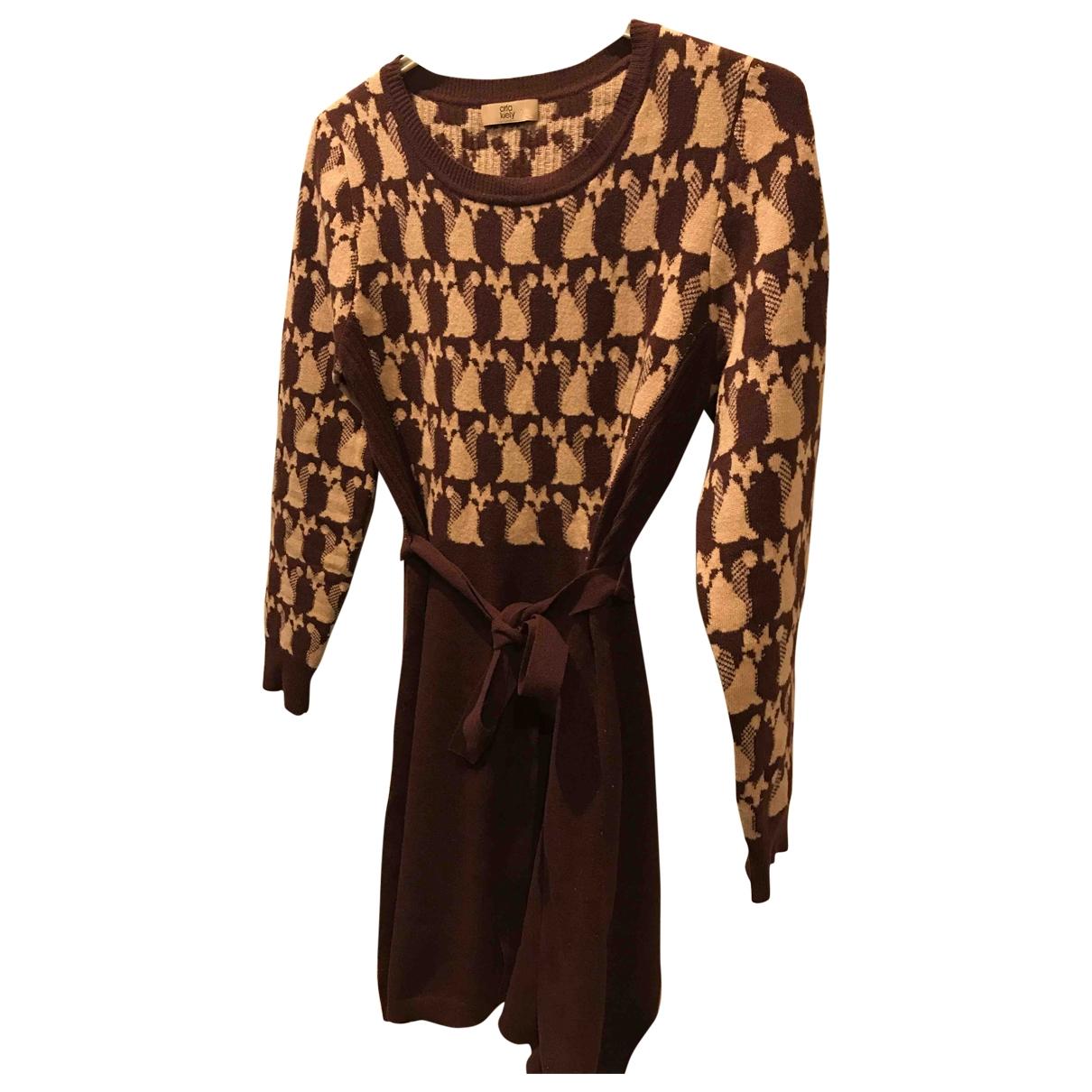 Orla Kiely \N Burgundy Wool dress for Women 8 UK