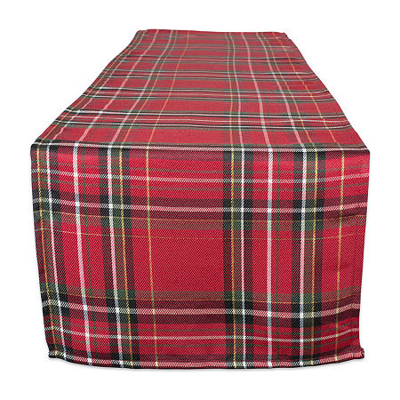 Design Imports Holiday Metallic Plaid Table Runner, One Size , Multiple Colors