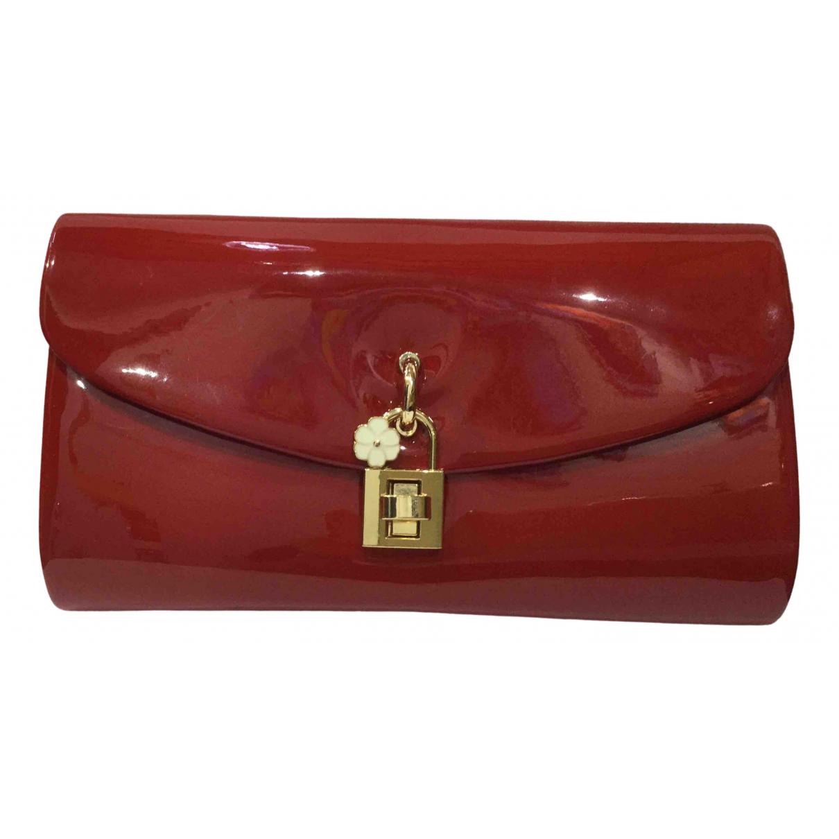 - Pochette   pour femme en cuir verni - rouge