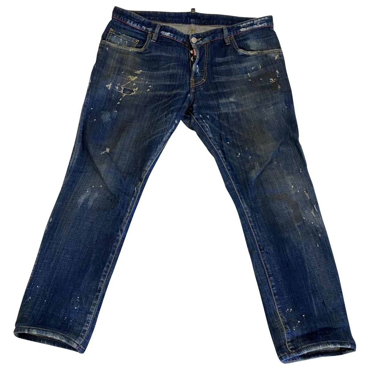 Dsquared2 \N Blue Cotton Jeans for Men 44 FR