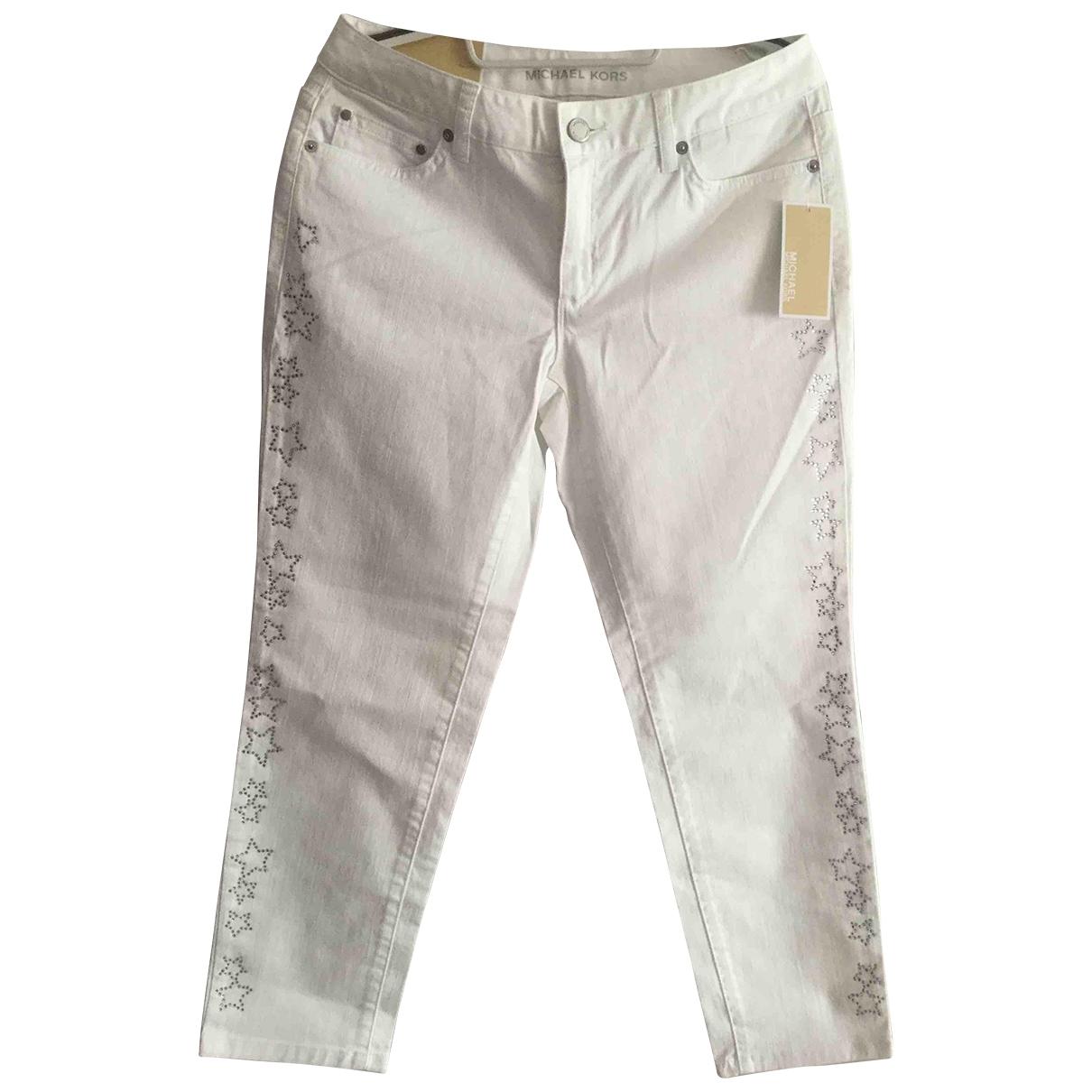 Michael Kors \N White Cotton - elasthane Jeans for Women 28 US