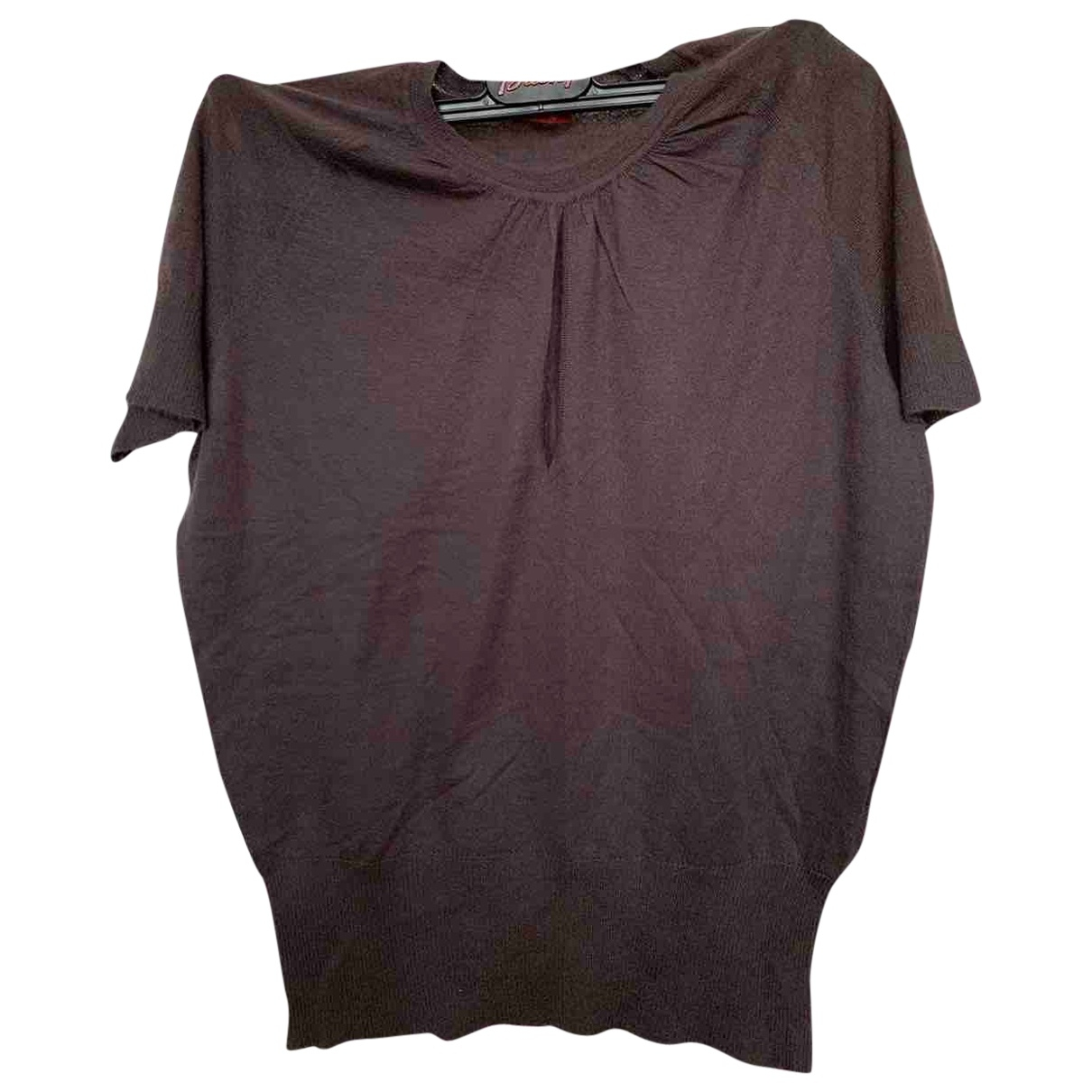 Brioni - Top   pour femme en cachemire - marron