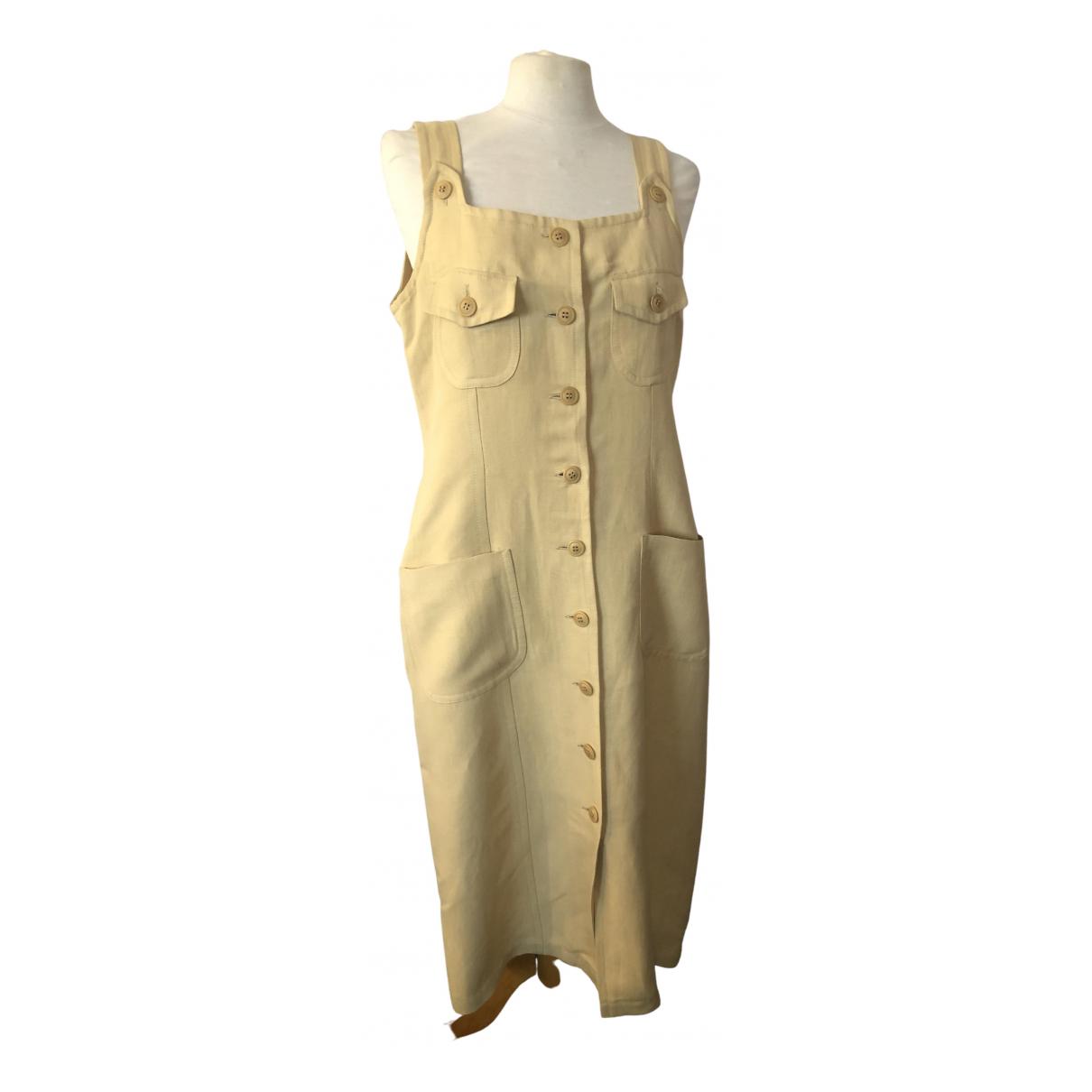 Vestido midi de Lino Yves Saint Laurent