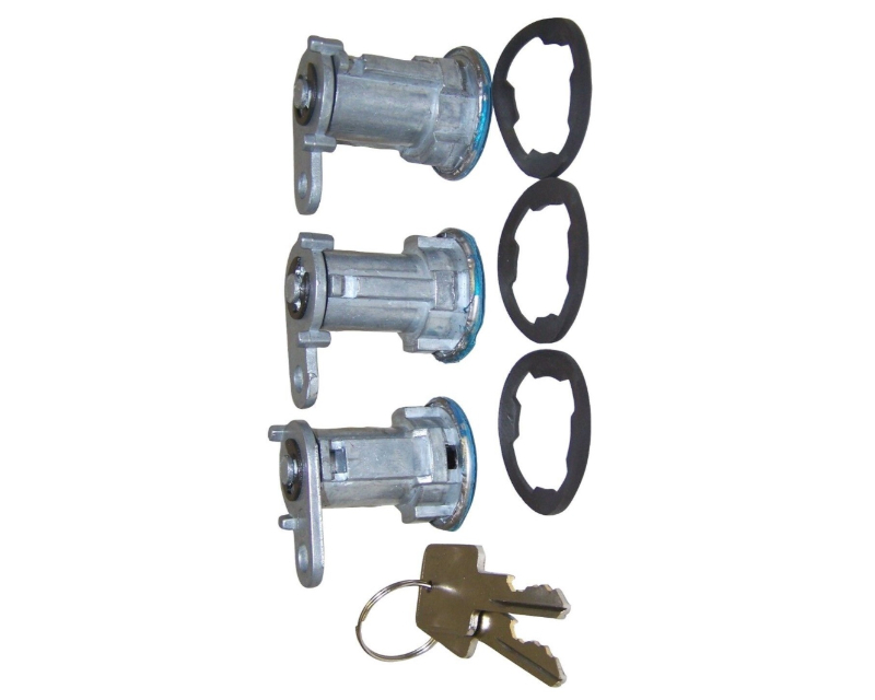 Steinjager J0052390 Door Lock Cylinder Set of 3  Jeep Wrangler YJ 1987-1990