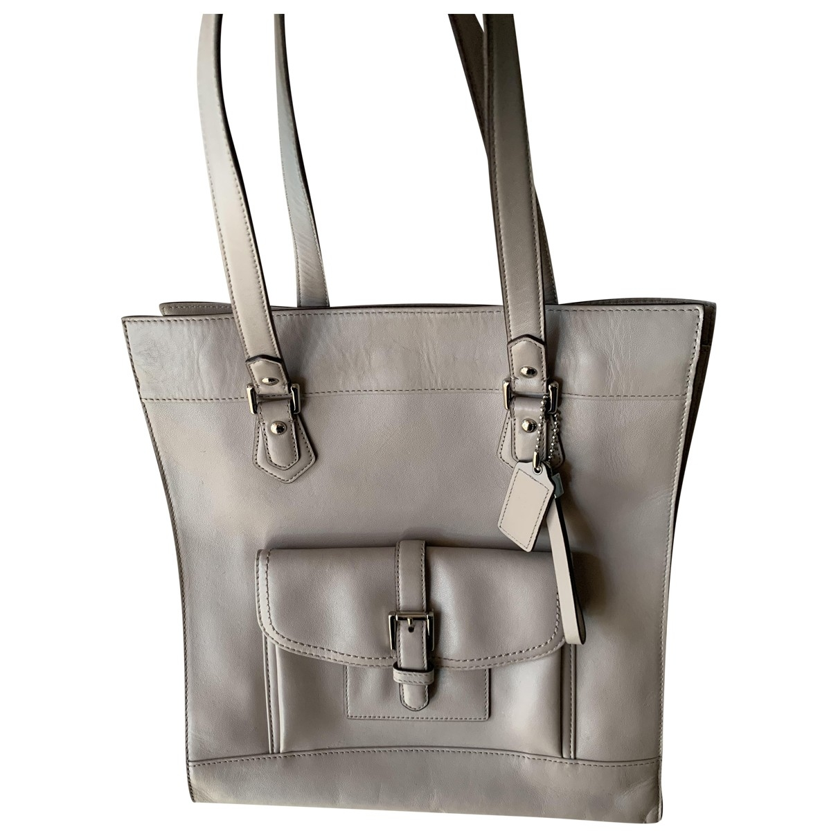 Coach \N Beige Leather handbag for Women \N