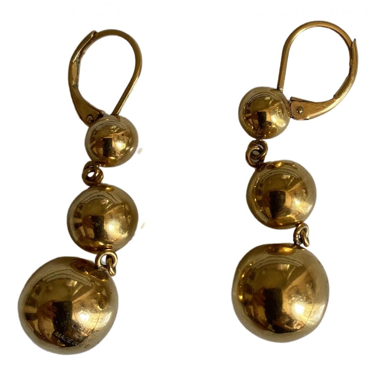 Celine - Boucles doreilles Hoop pour femme en metal - dore