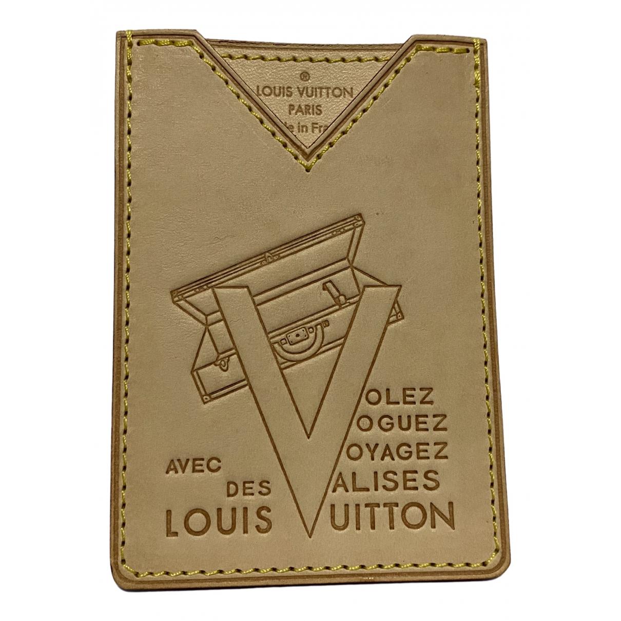 Louis Vuitton - Petite maroquinerie  Coin Card Holder pour homme en cuir - beige