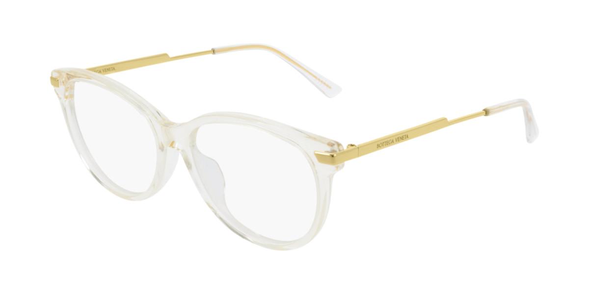 Bottega Veneta BV1039O 003 Women's Glasses Clear Size 53 - Free Lenses - HSA/FSA Insurance - Blue Light Block Available