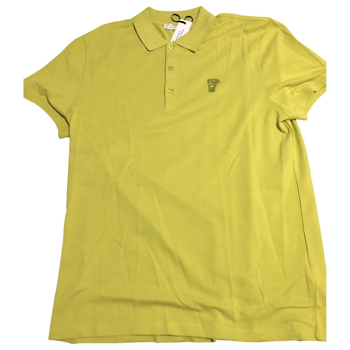 Versace \N Poloshirts in  Gelb Baumwolle