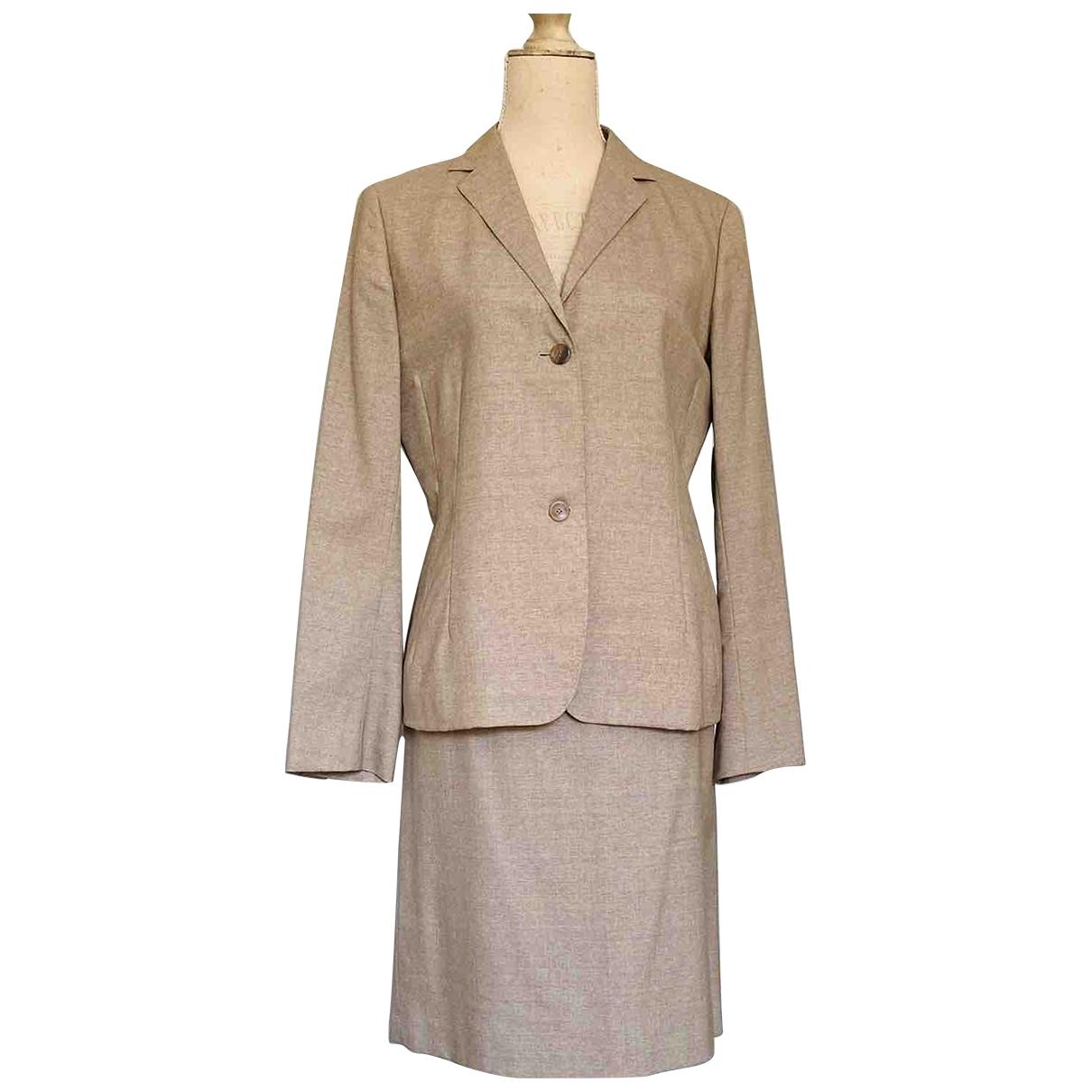 Jil Sander \N Beige Wool skirt for Women 44 IT