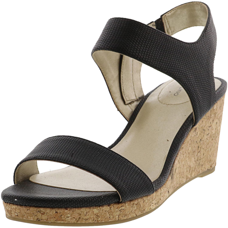 Bandolino Women's Tessa 3 Black Ankle-High Wedged Sandal - 8.5M