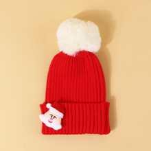 Girls Christmas Santa Claus Decor Beanie